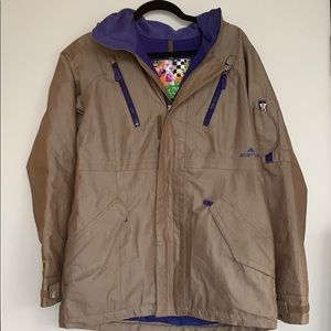 Burton | Tan and Purple Snowboard Jacket